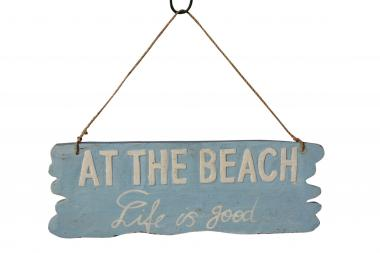 "Holzschild-Retro ""At The Beach"", 30x10cm"