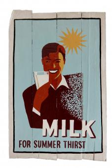 "Holzschild-Retro ""Milk health poster"""