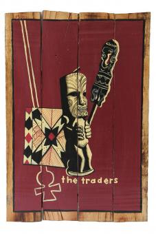 "SALE - Holzschild-Retro ""The Traders"""