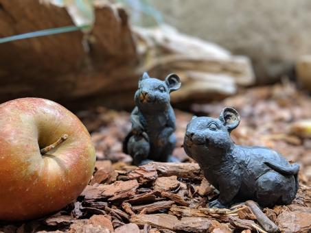 Mäuse, 2er-Set, Bronzeoptik, 7 cm