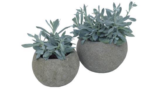 Pflanzgefäß, rund, glatt, 30 cm Ø