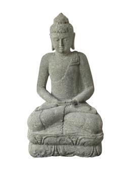 Sitzender Buddha, indisch, 75 cm