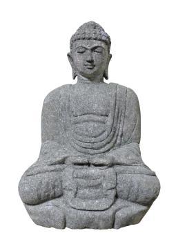 Sitzender Buddha, japanisch, 75 cm H