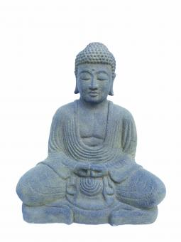 Sitzender Buddha, japanisch, 21 cm H