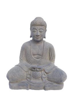 Sitzender Buddha, japanisch, 25 cm