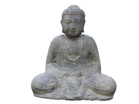 Sitzender Buddha, japanisch, 30 cm, Antikfinish