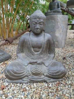 Sitzender Buddha, japanisch, 40 cm