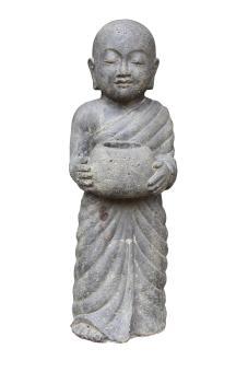 Stehender Mönch mit Schale 60 cm