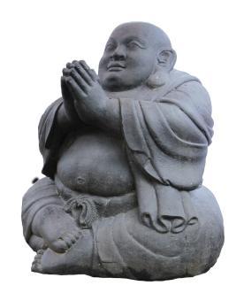 Sitzender Mönch, lachend 130 cm