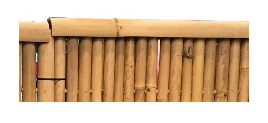 End / weather protection for bamboo fence, 90 cm long, yellow