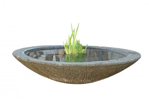Schale Modell Lotus, bossierte Außenfläche, 75 cm Ø