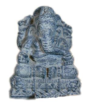 Sitzender Ganesha, 15 cm, antikinish