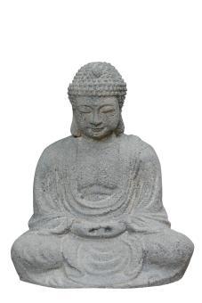 Sitzender Buddha, japanisch, 15 cm, antikinish