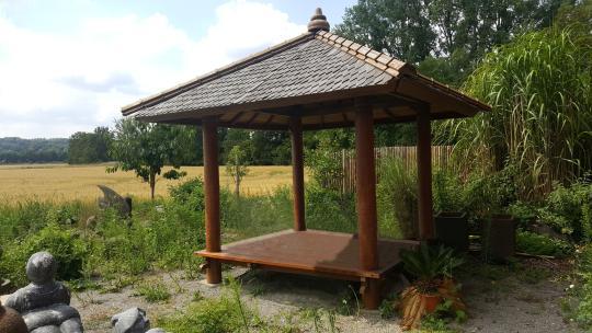 Ausstellungsstück - Gazebo Gartenhaus mit Kunstvoller Bedachung