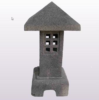 Jappanese stone lantern model Kagosima, 40 cm H