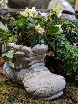 Stiefel, Gartenfigur, 24 cm hoch