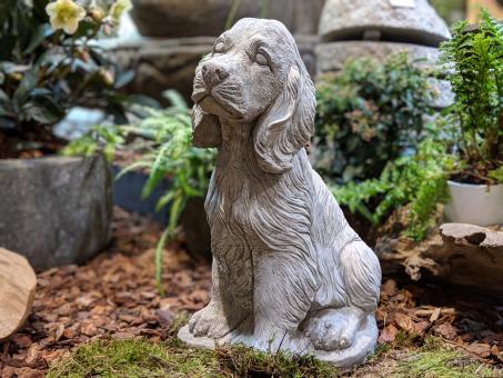 Hund, Cocker Spaniel, Gartenfigur, Tierfigur, 37 cm hoch