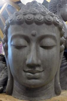 Buddha-Kopf für den Innenraum in 110 cm
