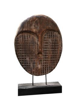 Abstrakter Kopf, 70 cm Weichholz, braun