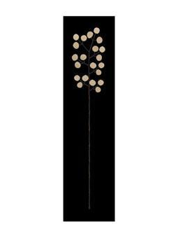 Panel – Blume aus Münzen auf Holz, schwarz