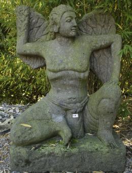 Atlant, griechischer Gott,aus Naturstein gehauen, 120cm Hoch