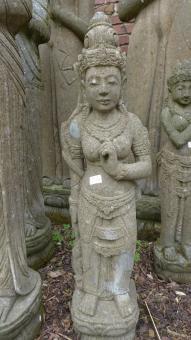 """Stehende Lady (Sri Dewi) """"Rad der Lehre"""", 100 cm"""
