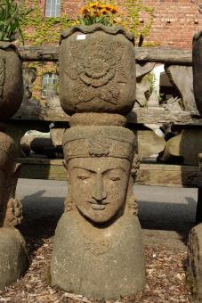 Lady-Kopf mit Schale, 120 cm, natur