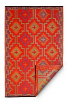 Outdoor-Teppich, Lhasa, orange/violett