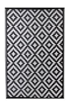 Outdoor-Teppich, FH-05 schwarz, Aztec