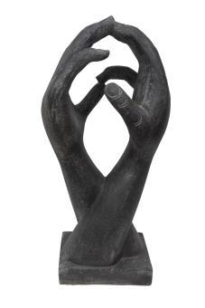 2 stehende Hände, abstrakte Skulptur, 100 cm