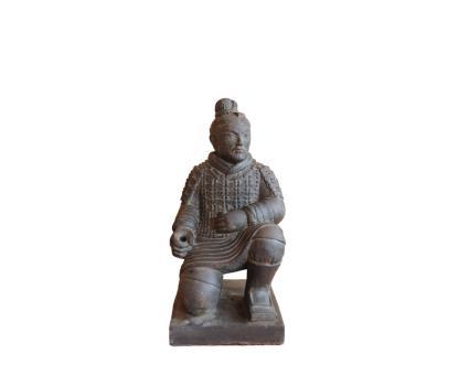 Chinesischer Krieger, kniend, 50 cm