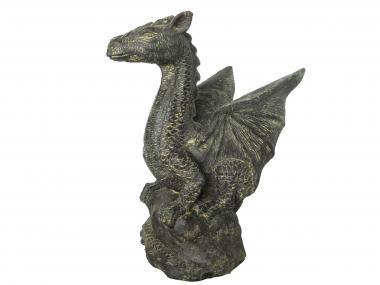 Sondermodell – sitzender Drache auf Stein, ca. 60 cm
