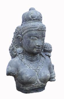 Dewi-Tara-Büste, 50 cm, Antikfinish