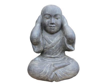 Sitzender Mönch, geschlossene Ohren, 45 cm