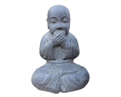 Sitting monk, closed mouth, 45 cm h