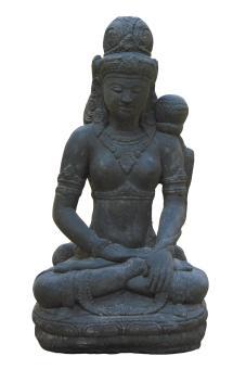 Sitzende Dewi Sri – Balis Reisgöttin, 45 cm