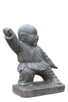 SALE – stehender Kung-Fu-Mönch mit Brille, 60 cm