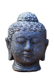 Buddha-Kopf, 15 cm, schwarz