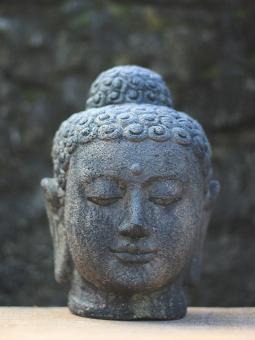 SALE – Buddha-Kopf, 25 cm, Andesitguss,Antikfinish