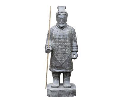 Chinesischer Krieger, stehend, 100 cm