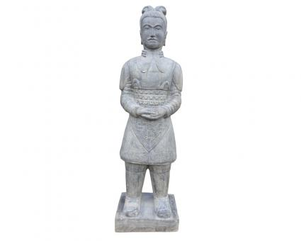 Stehender Krieger, ca. 200 cm, Steinguss
