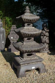 Gartenlaterne im japanischen Pagoda-Stil, 126 cm