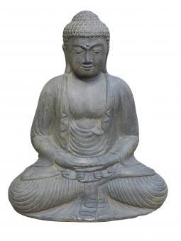 Buddha, Japan, sitzend, Steinguss, 40 cm Höhe