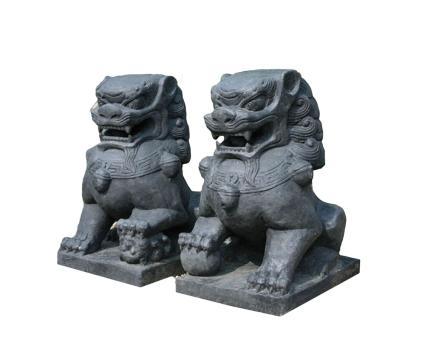 Tempel-Löwen 2er-Set, 75 cm