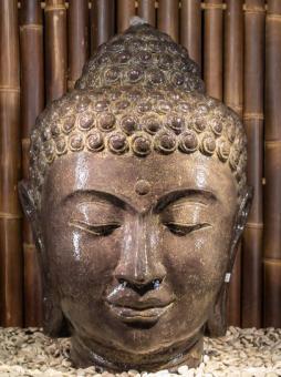 Buddha-Kopf als Wasserspiel, 75 cm
