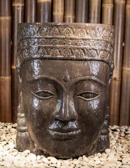 Khmer-Kopf als Wasserspiel, 70 cm