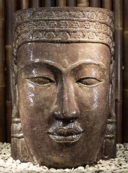 Khmer-Kopf als Wasserspiel, 85 cm