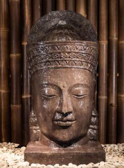 Khmer-Kopf mit Sockel als Wasserspiel, 95 cm