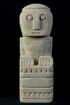 Statue, primitiv, 18 cm