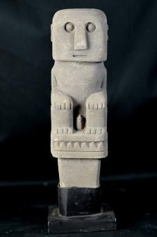 Statue, primitiv, 33 cm